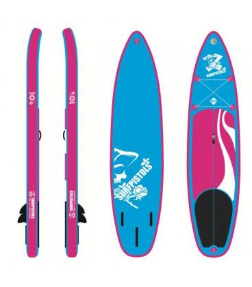 Sup Paddle gonflable Surfpistols Marinière 10'6