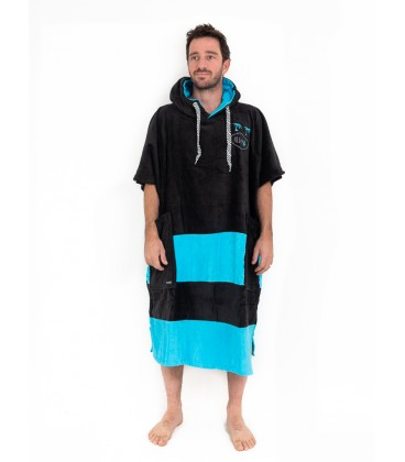 PONCHO ALL IN V FLASH BLACK TURQUOISE