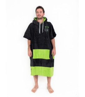 PONCHO ALL IN V FLASH BLACK GREEN