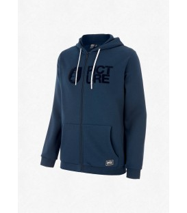Sweat Picture Flock Zip Hoodie